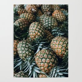 Tropical Pineapples Poster