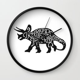 Triceratops or Tricerabottom? Wall Clock