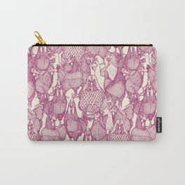 just chickens cherry pearl Carry-All Pouch
