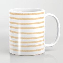 Horizontal orange pencil stripes Coffee Mug