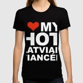 I Love my hot Latvian Fiancee Engaged Engagement Latvia T-shirt