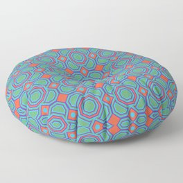 California Dreaming Abstract Geometric Seamless Pattern Floor Pillow