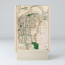 Map Of Kansas City 1915 Mini Art Print