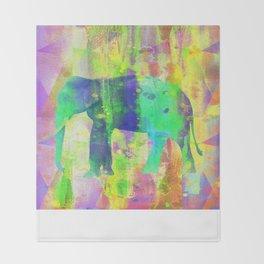 Colorful Elephant WW Throw Blanket