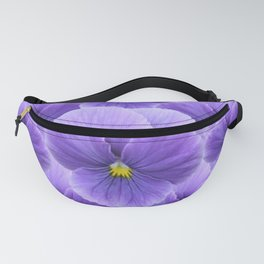 LILAC PURPLE SPRING PANSY FLOWERS ART Fanny Pack