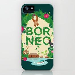 Borneo Indonesia iPhone Case