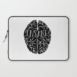 Insane in the Membrane in black Print by Emilythepemily Laptop Sleeve