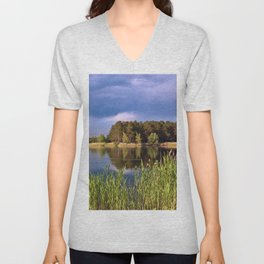 After Rain Poetry Unisex V-Neck
