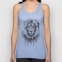 Lion Watercolor Unisex Tank Top
