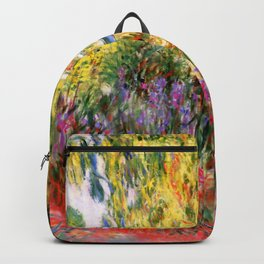 "Claude Monet ""Water lily pond, water irises"" Backpack"