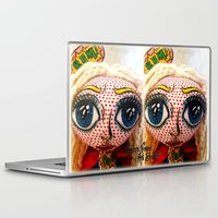 supergirl Laptop & iPad Skins featuring Supergirl by Chiara Venice Art Dolls