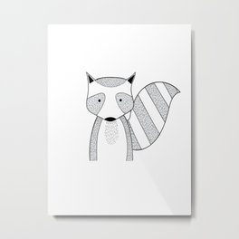 Cartoon cute animals many a highlight Metal Print