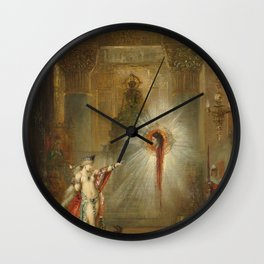 The Apparition by Gustave Moreau Wall Clock