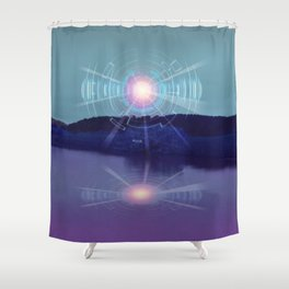 Futuristic Visions 01 Shower Curtain