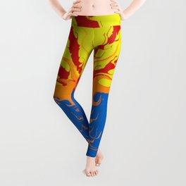 Arizona Flag Fluid Art Style 2 Leggings