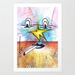 A Star in the Sky Art Print