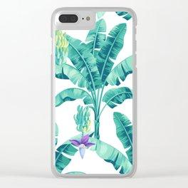 Banana leaf bloom Clear iPhone Case