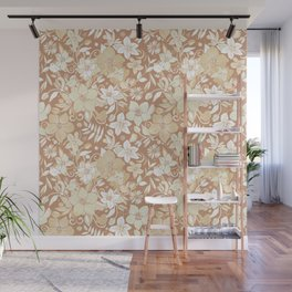 Helleborus and birds | gold Wall Mural