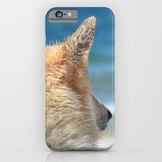 Dog at the beach iPhone 6 Slim Case