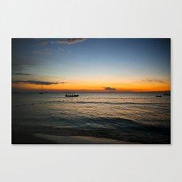 Negril Sunset 001 Canvas Print