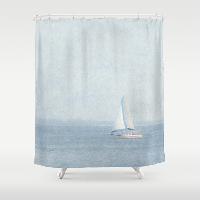 Sailboat Shower Curtain By Purenaturephotos