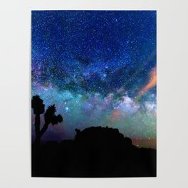 Colorful milky way Poster