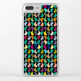 Seamless Colorful Geometric Shapes Pattern Clear iPhone Case