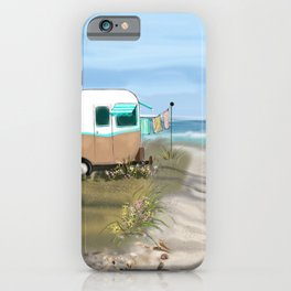 Beach Glamping Camping iPhone Case