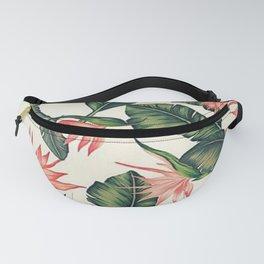 Palm Leaf & Flower Print Fanny Pack