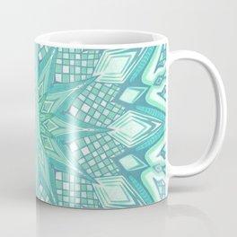 Burst Mandala Turquoise Coffee Mug