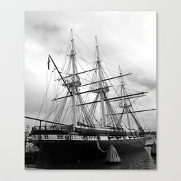 A Sail Warship The USS Constellation Canvas Print