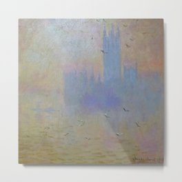 "Claude Monet ""The Houses of Parliament, Seagulls"", 1903 Metal Print"