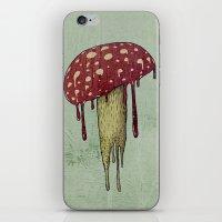 mushroom iPhone & iPod Skins featuring Mushroom by Lime