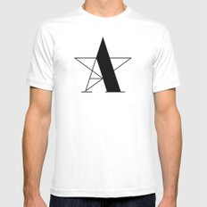 A-star MEDIUM White Mens Fitted Tee