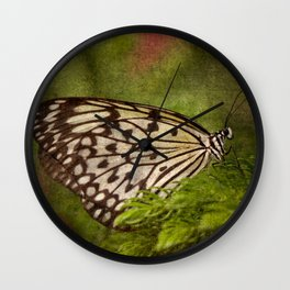 Rice Paper Butterfly Wall Clock