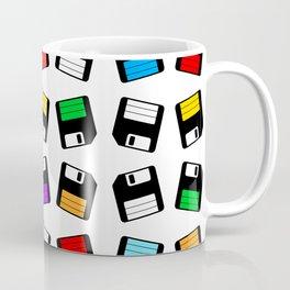 Diskette Retro Pattern Color Coffee Mug