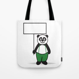 Panda Sign Tote Bag