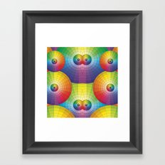 Rainbow Pretty Circles Color Wheel Awesome Thing Framed Art Print