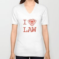 law V-neck T-shirts featuring Law Lover by Fanboy30