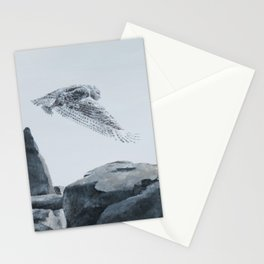 Snowy Owl Of Bronte Harbour by Teresa Thompson Stationery Cards