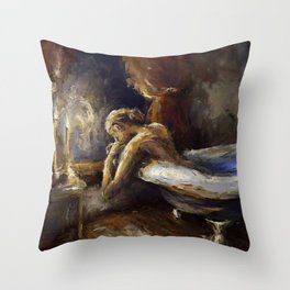 The Burnout. Throw Pillow