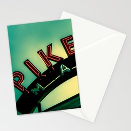 Pike Place Market at Dawn Stationery Cards