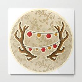 It's Christmas time, deer! Metal Print