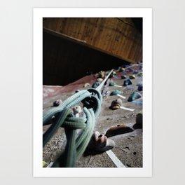 Rock Climbing Wall Art Print