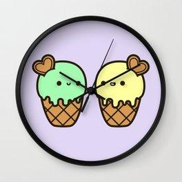 Ice cream love Wall Clock
