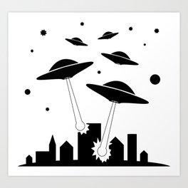 UFO Invasion Art Print