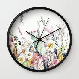 Santa Fe Cactus Love Wall Clock