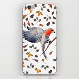 Flying Bird in Leaves iPhone Skin