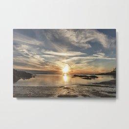 Plumcove Sun pillar Metal Print