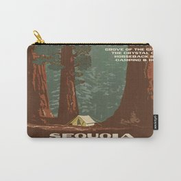 Vintage poster - Sequoia National ParkX Carry-All Pouch